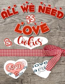 Valentine Cookies Sale Flyer Template