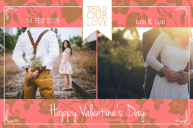 Valentine Couple Collage Landscape