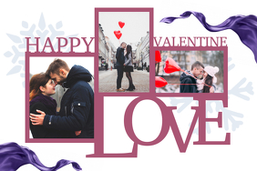Valentine Couple Collage Poster Template