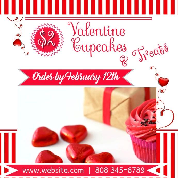 Valentine Cupcake video