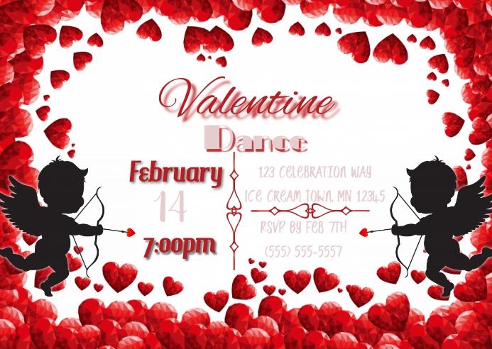 Valentine Dance Insta Postkort template