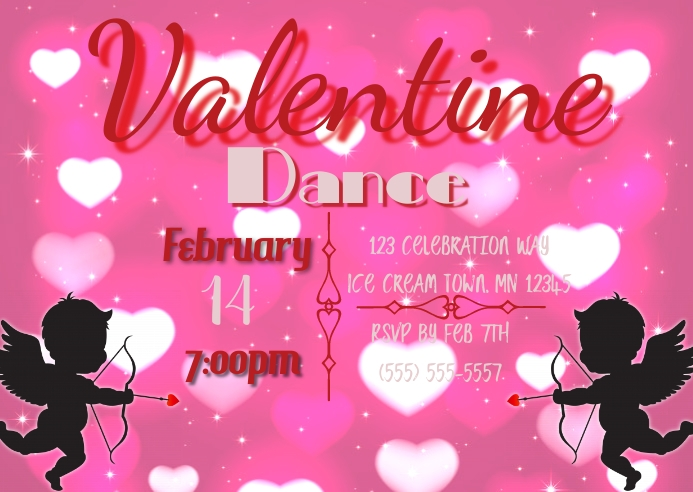Valentine Dance Insta ไปรษณียบัตร template