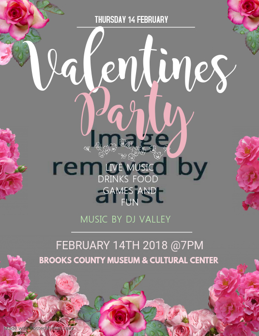 Valentine Dance Party Flyer Template