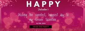 Valentine day cards FACEBOOK COVER Facebook-omslagfoto template