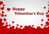 valentine day Carte postale template