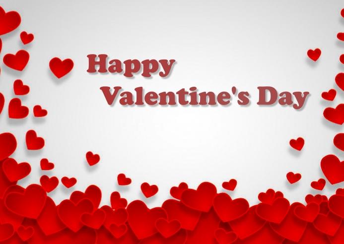 valentine day ไปรษณียบัตร template