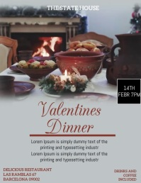 VALENTINE DAY Flyer (US Letter) template