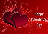Valentine Day 明信片 template