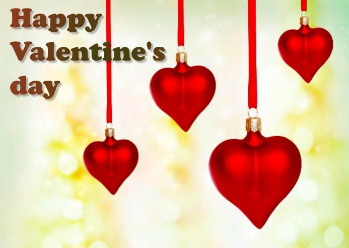 valentine day Postkort template