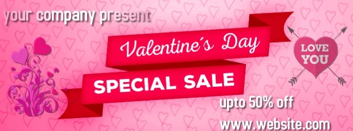 valentine day Facebook-coverfoto template