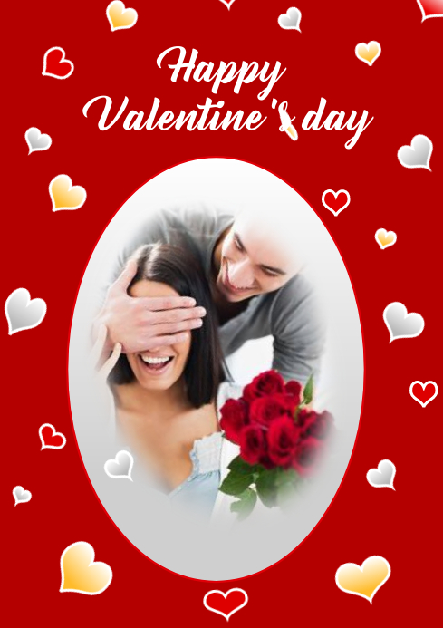 Valentine day A4 template