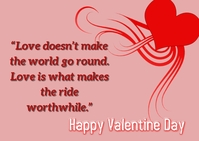 Valentine Day Postcard template
