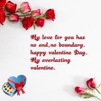 valentine day Instagram Post template