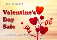 valentine day Kartu Pos template