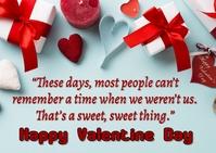 Valentine Day Postal template