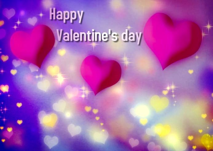 valentine day Pocztówka template