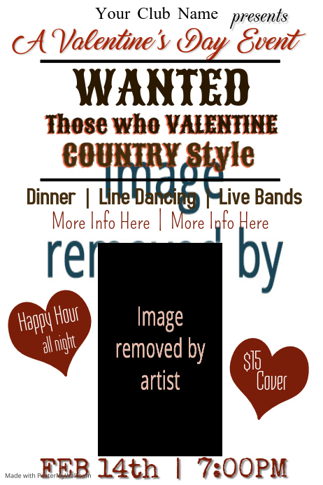 Valentine Day Event Poster Template Postermywall