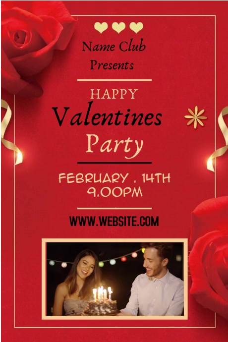 VALENTINE DAY flyer Poster template