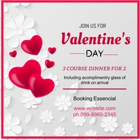 VALENTINE DAY FLYER Square (1:1) template