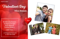 Valentine Day Mini Session Этикетка template