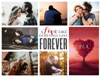 Valentine Day Photo Collage Poster Folder (US Letter) template