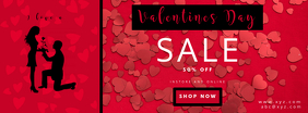 Valentine day retail template Facebook-coverfoto