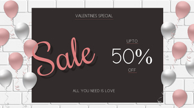 Valentine day retail template Digital na Display (16:9)