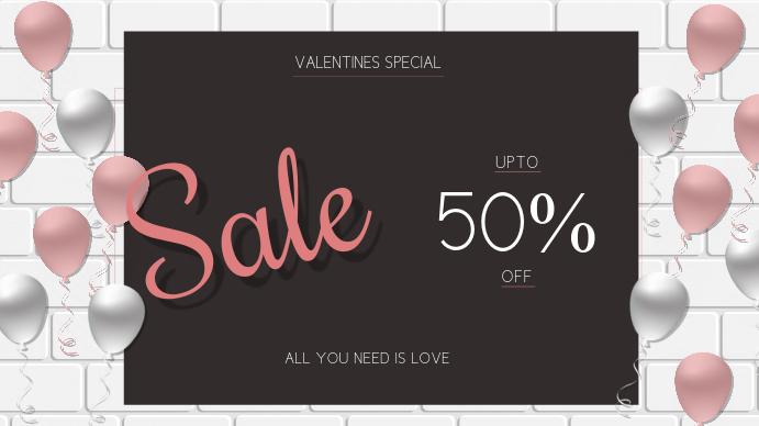 Valentine day retail template