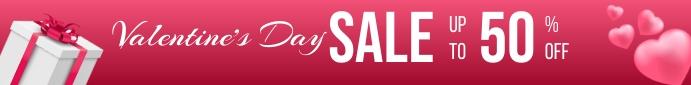 Valentine Day Sale banner ลีดเดอร์บอร์ด template