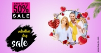 valentine day sale Facebook Shared Image template