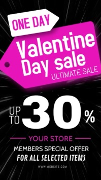 Valentine day sale video ad template