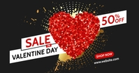 valentine day sales advertisement Facebook-annonce template