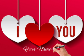 Valentine Banner 4 x 6 fod template