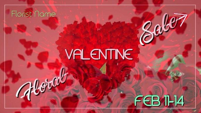 Valentine Digital Floral Display template