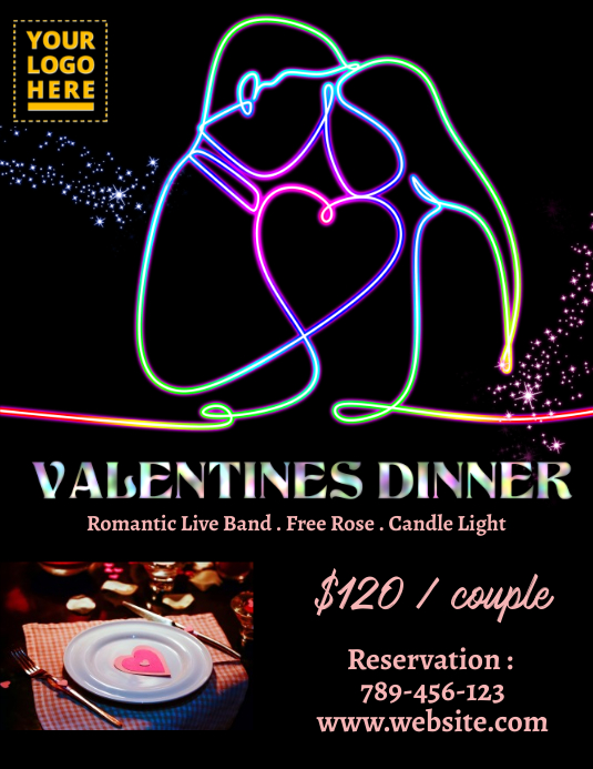 Valentine Dinner Templat Postermywall