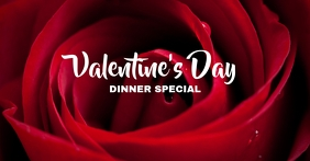 Valentine Dinner Portada de evento de Facebook template