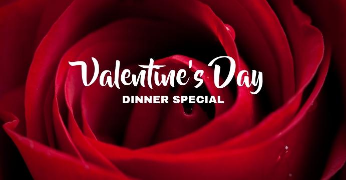Valentine Dinner Facebook Event Cover template