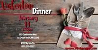 Valentine Dinner Portada de evento de Facebook template