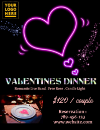 Valentine Dinner Flyer (US Letter) template
