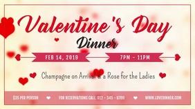 Valentine Dinner Digital Display Video