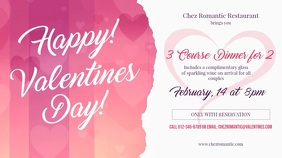 Valentine Dinner Landscape Digital Display Video template