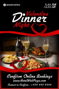 Valentine Dinner Night 2021 Template Póster