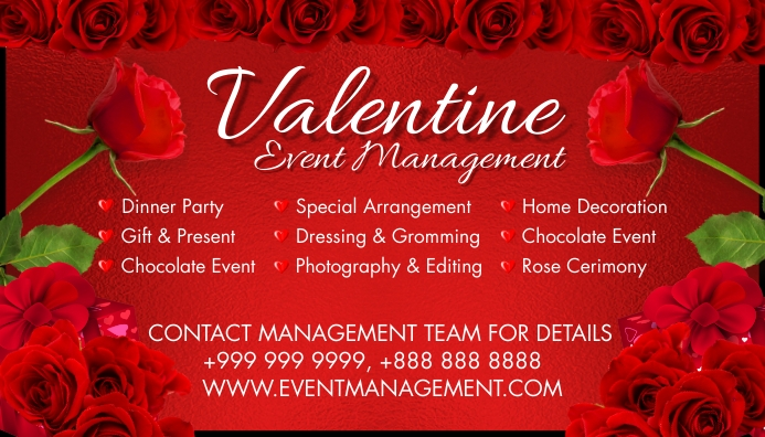 Valentine Event Business Card 2021 Template