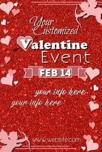 Valentine Event Poster template