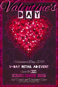 Valentine Event Hearts Love Couple Romance VDay Pink Red