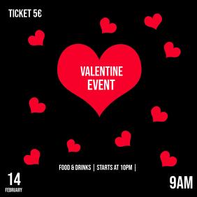 Valentine Event Instagram Post Template