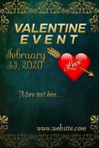 Valentine Event Poster Plakat template