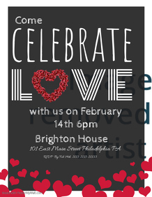 Valentine Event Flyer Template