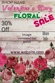 Valentine Floral Sale Poster Template