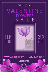Valentine Flower Sale Poster Template